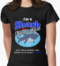 I'm a Shark Kinda Girl Funny Shark T Shirt Novelty Womens Fitted T-Shirt
