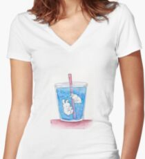 Ice Bunnies Women's Fitted V-Neck T-Shirt