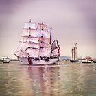 Tall Ships in Boston -USCG by LudaNayvelt
