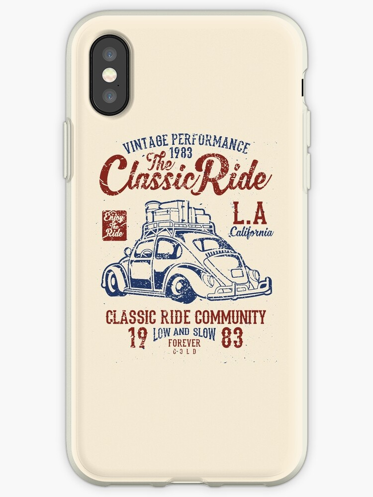 'The Classic Ride - 1983 VW - Low And Slow' iPhone Case by JakeRhodes