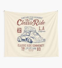 The Classic Ride - 1983 VW - Low And Slow Wall Tapestry
