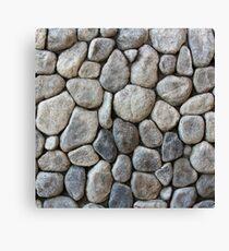 Stone Texture (Collage Art) Canvas Print