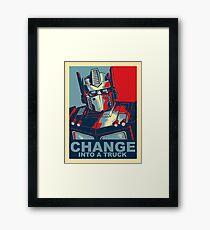 Optimus Prime - Change Framed Print
