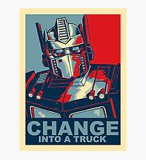 Optimus Prime - Veränderung Fotodruck
