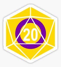 Intersex Pride d20 (version 1) Sticker