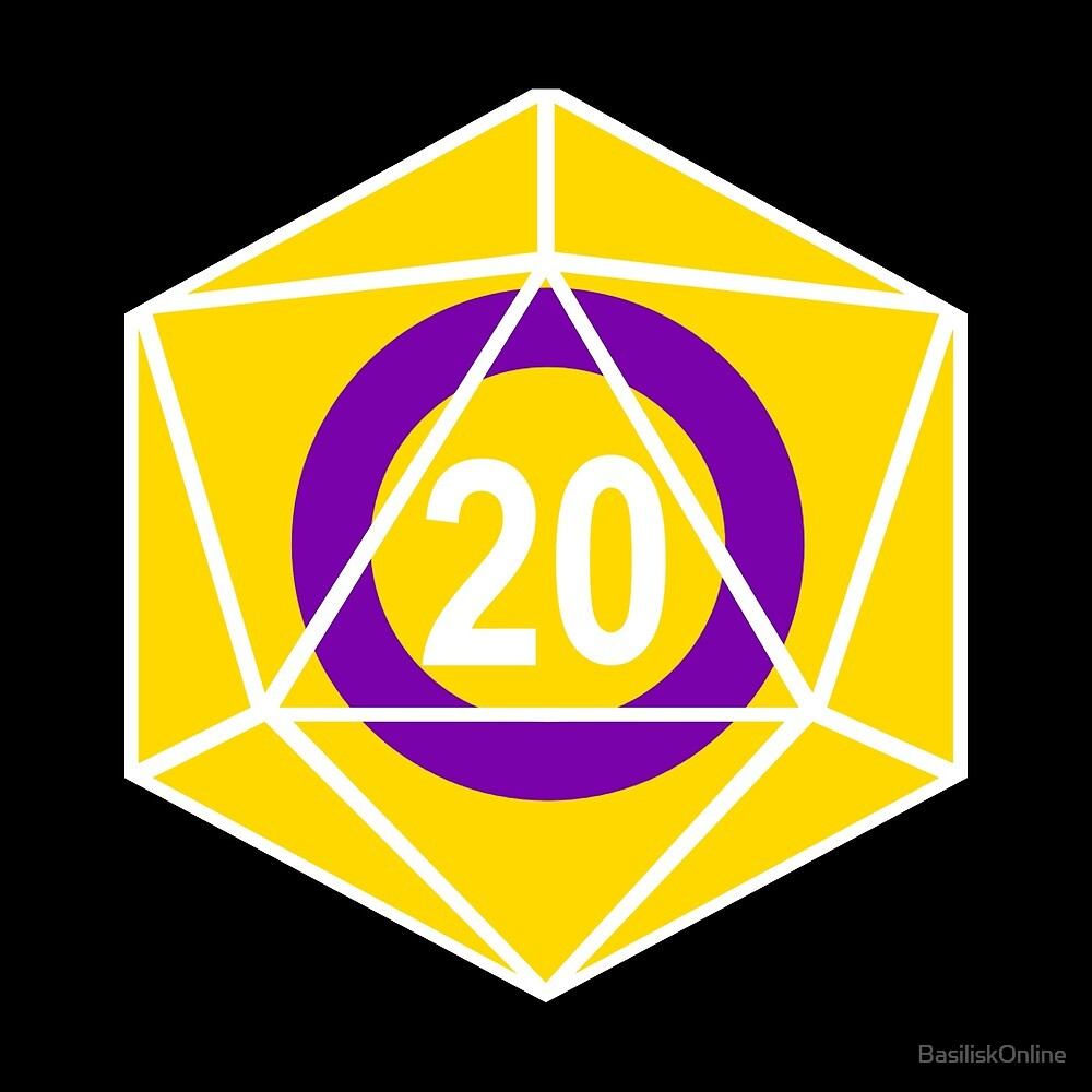 Intersex Pride d20 (version 1) by BasiliskOnline