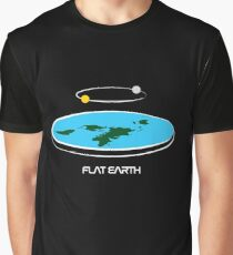 Flat Earth Theory Diagram Graphic T-Shirt