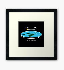 Flat Earth Theory Diagram Framed Print