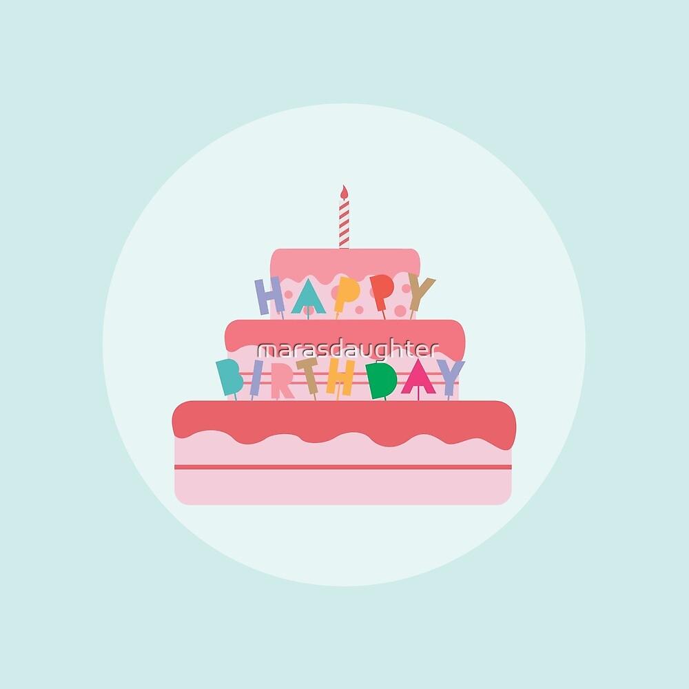 happy birthday cake by marasdaughter