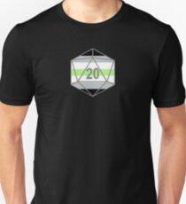 Agender Pride d20 Unisex T-Shirt