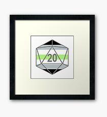 Agender Pride d20 Framed Print