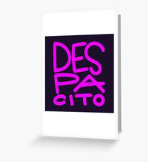 despacito design - jb new style Greeting Card