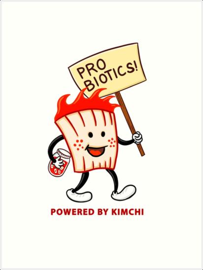 kimchi probiotic korean food art prints by jinsworld redbubble Spanish Food kimchi probiotic korean food