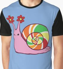 Sweetie Candie Snail Graphic T-Shirt