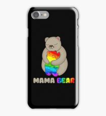 LGBT Mom Bear LGBT T Shirt Mothers Gift Rainbow Shirt iPhone Case/Skin