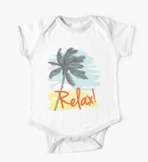 Relax! Retro 80s Vacation Style One Piece - Short Sleeve