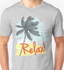 Relax! Retro 80s Vacation Style T-Shirt