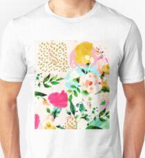 Floral Blush #redbubble #decor #buyart Unisex T-Shirt