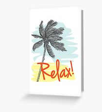 Relax! Retro 80s Vacation Style Greeting Card