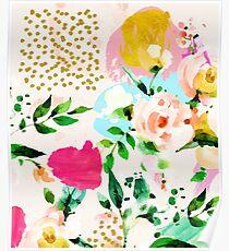 Floral Blush #redbubble #decor #buyart Poster
