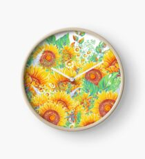 Summer Garden 4 Clock