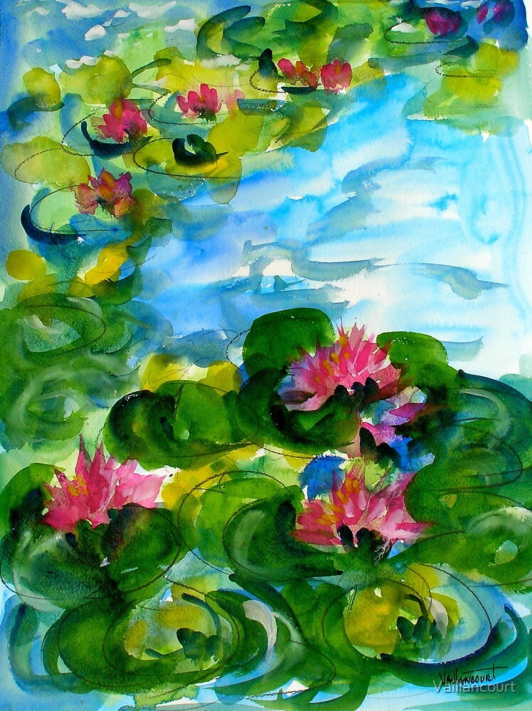 Water lily Pond by Vaillancourt