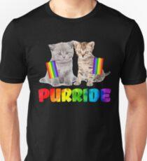 Funny Gay Pride Cat T Shirt - LGBT Purride T-Shirt