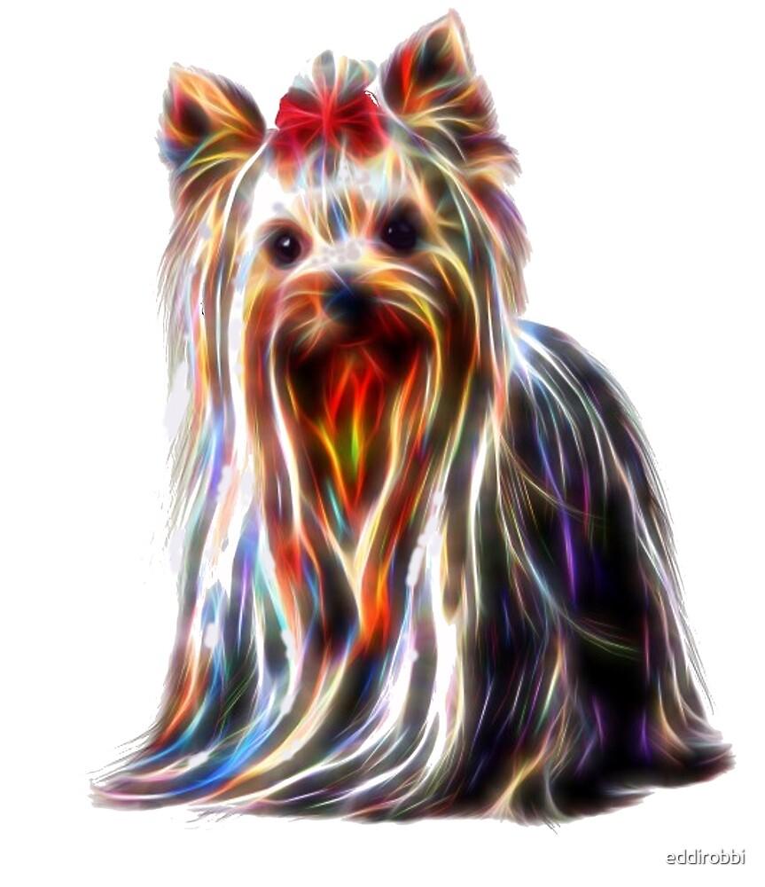 puppy, cute, animal, dog, psychedelic, neon,  by eddirobbi