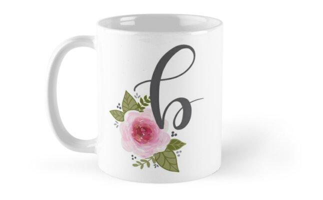 Floral Monogram b by ktscanvases