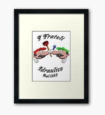 Plumbing Brothers since 1983 Framed Print