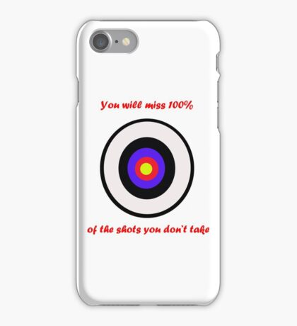 100% of shots iPhone Case/Skin