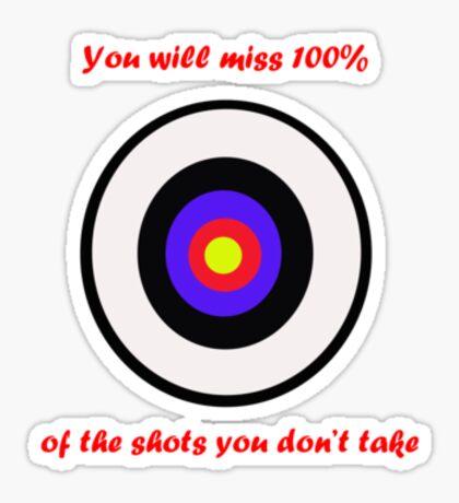 100% of shots Sticker