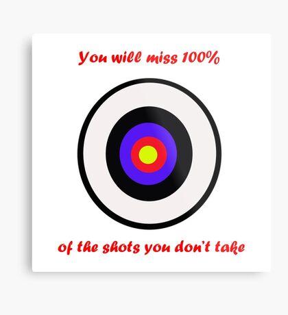 100% of shots Metal Print