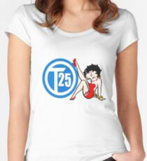 Vw T25 Betty Boop Women's Fitted Scoop T-Shirt