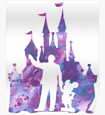 Walt and Mickey with the Castle Poster