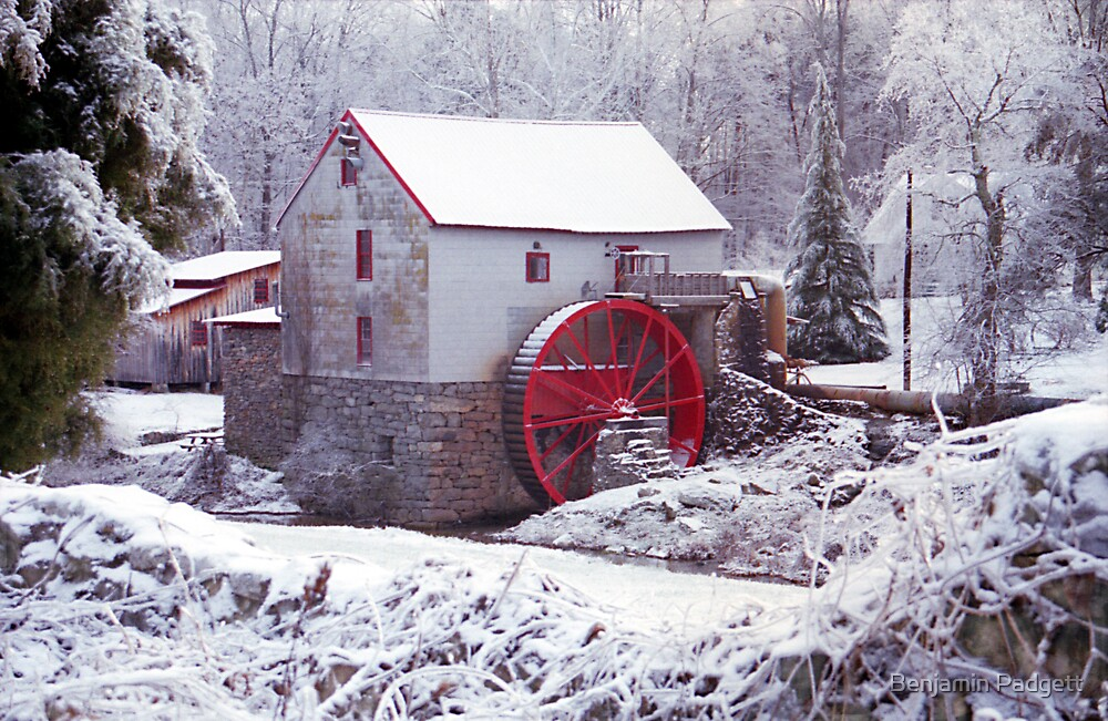 Snow at the Old Mill by Benjamin Padgett