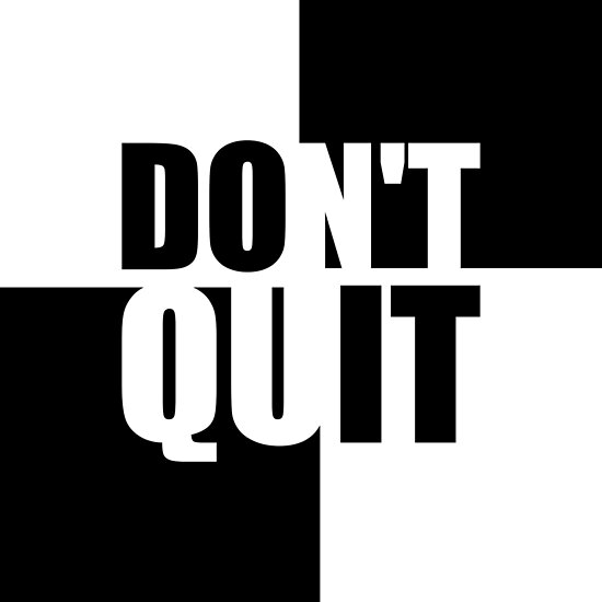 Don't quit... (Do It) Gym Motivational Quote by MOSAICART