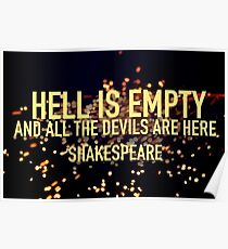 HELL IS EMPTY- Shakespeare Poster