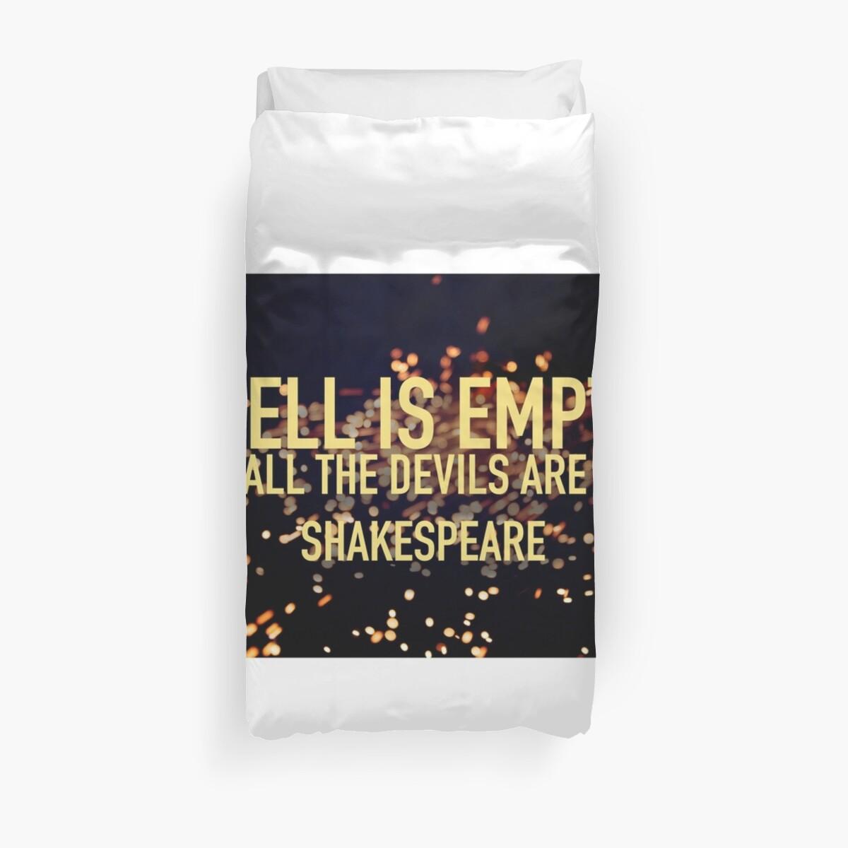HELL IS EMPTY- Shakespeare by Minivillage