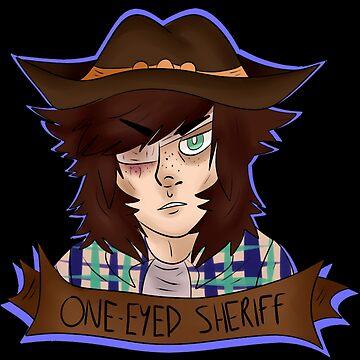 chandler riggs/carl grimes - one eyes sheriff by handsomedun