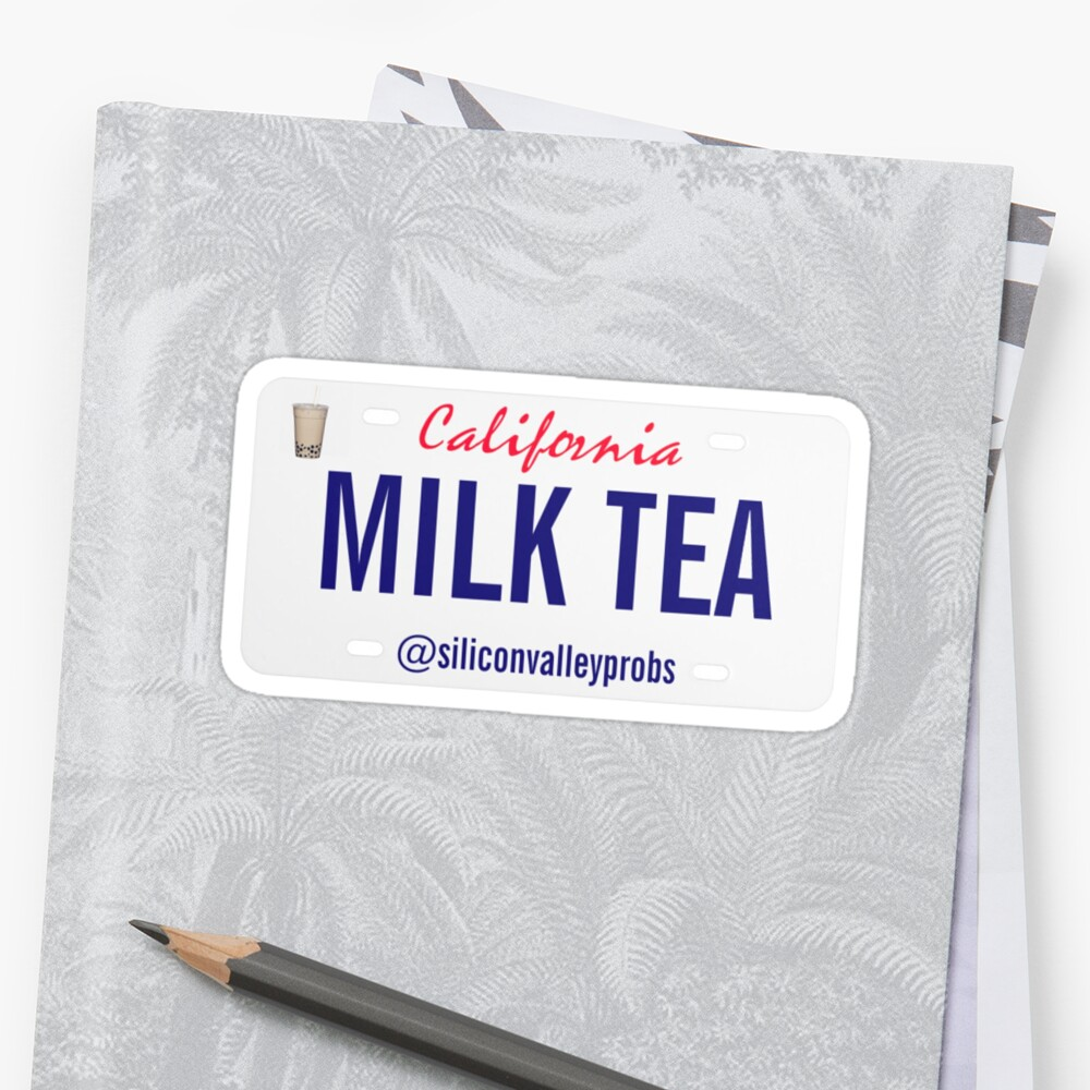 LICENSE PLATE: MILK TEA by Silicon Valley Probs