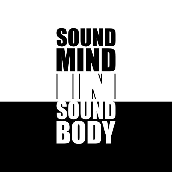 """Sound mind in... """"Yoga Quote"""" Life Inspirational Quote by MOSAICART"""