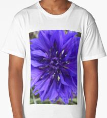 Deep Purple Bachelor Button Long T-Shirt