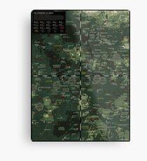 Goddesses of Venus: A topographic Map Metal Print