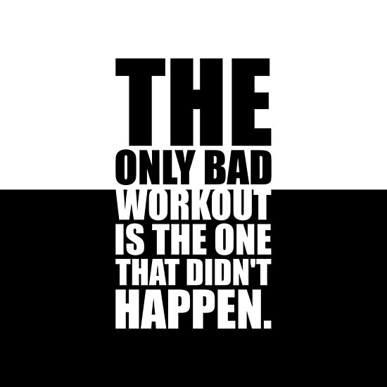 The only bad... Gym Motivational Quote by MOSAICART