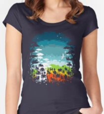 Rainforest city Women's Fitted Scoop T-Shirt