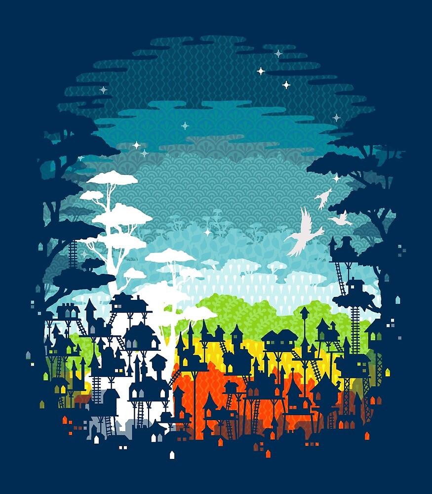 Rainforest city by Eleanor Lutz