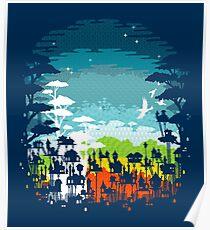 Rainforest city Poster