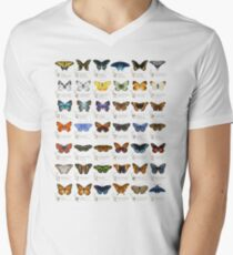 Butterflies of North America Men's V-Neck T-Shirt