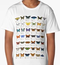 Butterflies of North America Long T-Shirt